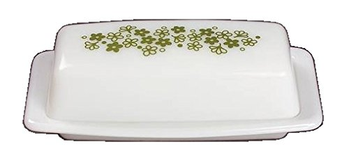 Corning Ware / Pyrex Spring Blossom ( Quarter Pound Covered Butter Dish ) 0.25 Lb Butter
