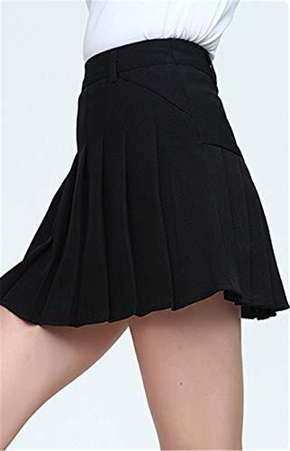 Femmes Basique Jupe Jupe black Midi Courte Rtro LLS Jupe wg4Tz