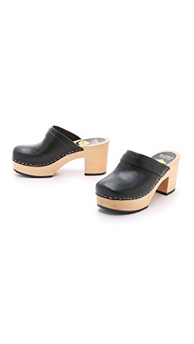 Platform swedish Women's Black Sandal TRmp35JvGZe hasbeens qxntw04p7