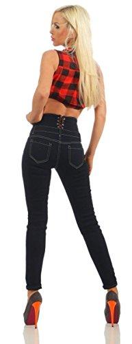 Fashion4Young Femme Fonc Bleu Jeans Jeans OxCPOnqfzw