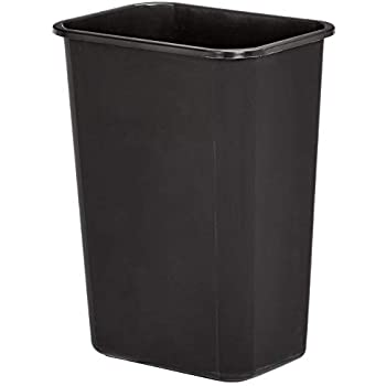 AmazonBasics 10 Gallon Commercial Waste Basket, Black, 4-Pack - WMG-00038