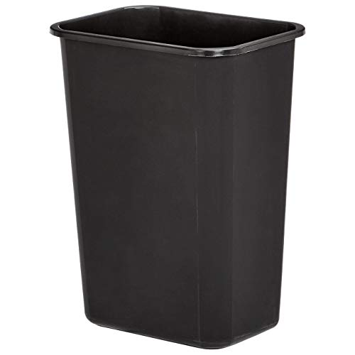 AmazonBasics 10 Gallon Commercial Waste Basket, Black, 4-Pack - WMG-00038 (Garbage Qt Can Plastic 41)