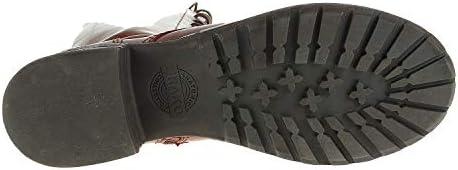 Brako 8430 Military Cuero Bottes en cuir lisse pour femme Marron
