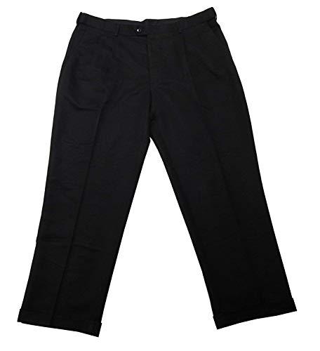 Savane Men's Dress Pants No Iron Microfiber Performance Comfort Waist Black Size 38x34 -