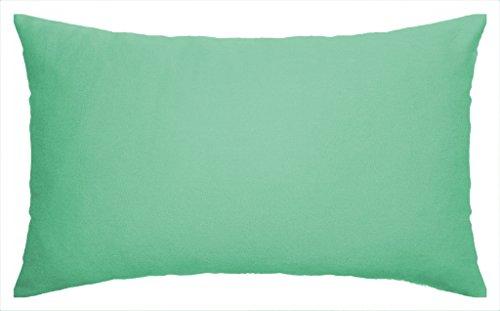 JinStyles Solid Green Cotton Canvas Lumbar Decorative Throw Pillow Cover (Celadon Green, 12 x (Celadon Green)