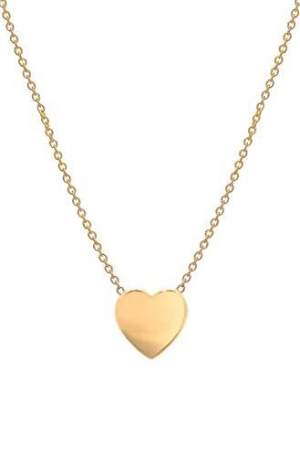14k gold heart necklace, Zoe Lev Jewelry