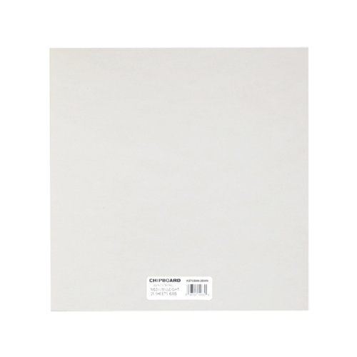 Grafix Medium Weight 6-Inch-by-6-Inch Chipboard-Sheets, White 25-Pack