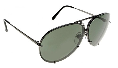 5d7c30414be Porsche Design Titanium Sunglasses P8478 C 69mm Grey Matte - Unisex - Extra  Lenses