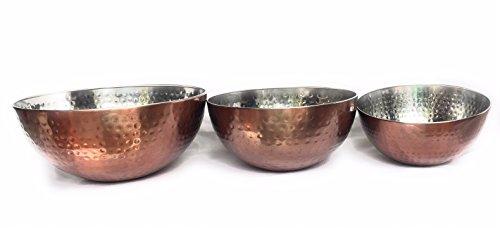 brown mixing bowl set - 4