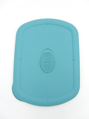 Pyrex Storage Deluxe Turquoise 3 Quart Rectangular Plastic Lid