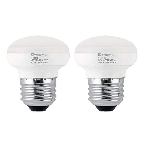 R14 LED Light Bulb, 4.5w (40w Equivalent), Dimmable, 300 Lumens, 3000k Soft White, E26 Medium Base, RoHS Compliant (Pack of ()