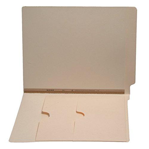 11 pt Manila Folders, Full Cut End Tab, Letter Size, Double Pockets Inside Front, U-File-M Strip (Box of 50)