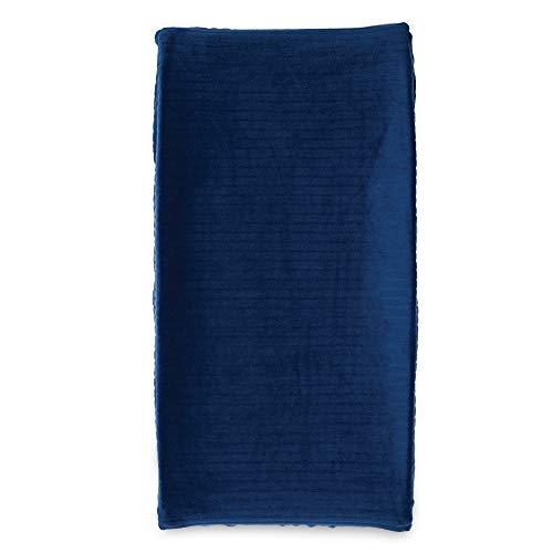 Boppy Changing Pad Cover, Navy Ribbed Minky Fabric