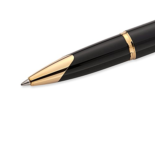 Waterman Carene Essential Black and Gold, Rollerball Pen with Fine Black refill (S0909790) by Waterman (Image #4)