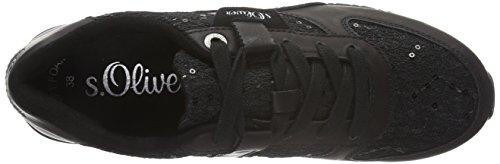 s.Oliver 23621, Baskets Basses Femme Noir (Black Sequins 31)