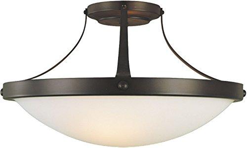 Boulevard Collection 1 Light - Feiss SF187ORB Boulevard Glass Semi Flush Ceiling Lighting, Bronze, 2-Light (15