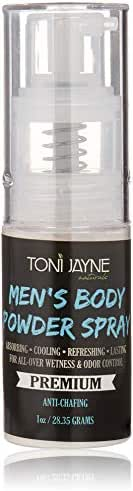 Men's Body Powder Spray by Toni Jayne Naturals: Fresh Aloe Vera Body Spray for Men| Full Body Cooling & Odor Control Spray|Natural Anti-Sweat, Anti-Chafing Body Powder Spray| Non Talc 1oz