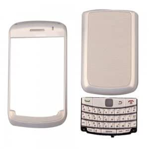 Replacement Plastic Housing for Blackberry Bold 9700 White with Pearl White