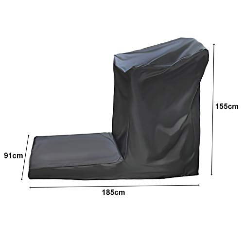 Folconauto Treadmill Cover Running Machine Cover Dust Cover Waterproof and UV Resistant Cover Oxford Fabric Furniture Cover (73'' x 36'' x 61'') by Folconauto (Image #1)