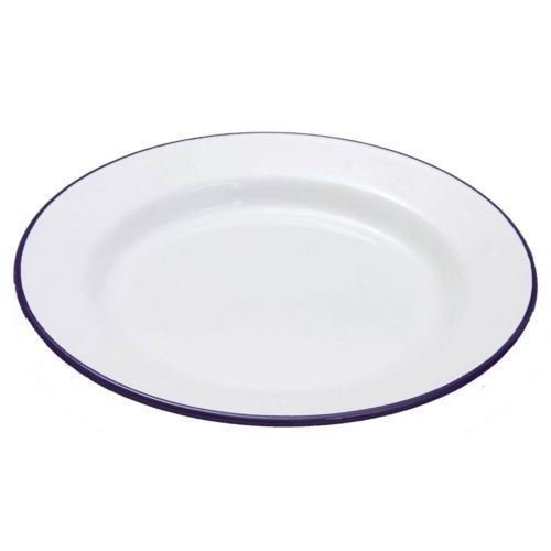 Enamel Pie / Dinner Plate 24cm - Perfect for apple pies. (Pack of 6)