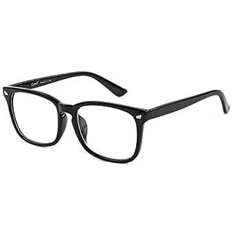 Cyxus Blue Light Blocking Glasses for Women Men UV Filter Stylish Square Frame Computer Gaming Eyeglasses Anti Eye Strain Headache Better Sleeping (Black, 53)