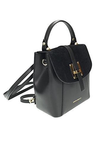 Collezione Alessandro - Backpack Black Suede Bag For Women
