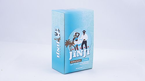 1 Box (50 Booklets) of Jinji Rolling Papers | Single Size 17gsm (68x36mm) -