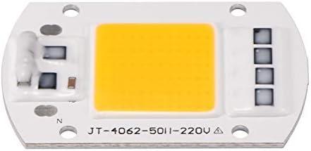 OurLeeme 100W 220V LED COB Chip Inteligente IC Driver para Reflector Reflector Reflector (Blanco cálido): Amazon.es: Iluminación