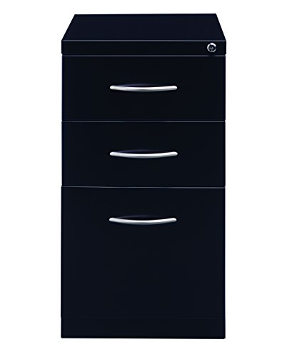 Pro Series 22298 Three Drawer Mobile Pedestal File Cabinet,