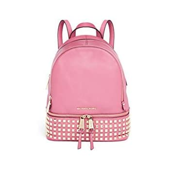 23e5be2d8d Amazon.com  Michael Kors Rhea Small Studded Leather Backpack Pale ...
