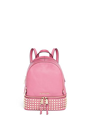 Michael Kors Rhea Small Studded Leather Backpack Pale Pink