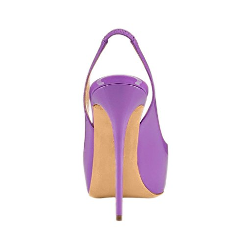 4 Slingback Alti Peep Dimensioni Fsj Orchidea 15 Toe Scarpe Sandali Tacchi Pompe Piattaforma qB5vZx5X