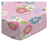 SheetWorld Fitted Cradle Sheet 18 x 36 - Floral Pink Dot - Made in USA