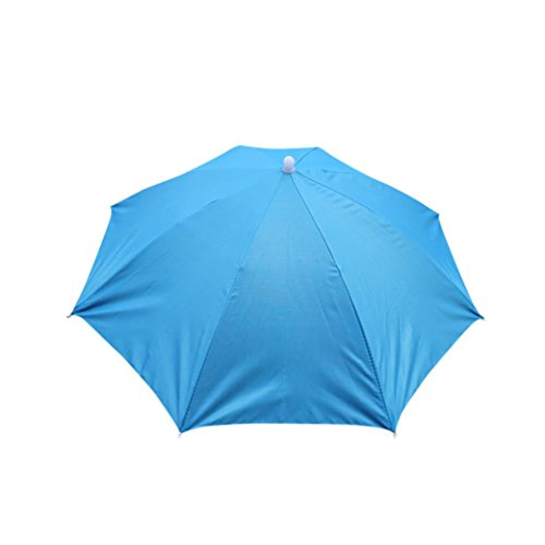 Toppers Classic Visor Hat - Baigoods Foldable Novelty Outdoor Umbrella Sun Hat Free hands Golf Fishing Camping Fancy Multicolor (Sky Blue)