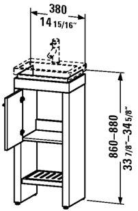 loor Left Hinged Floor-Standing Vanity Unit for 079040 Rosewood ()