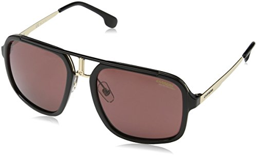 Carrera Men's Ca1004s Polarized Aviator Sunglasses, Black Gold/Burgundy Polaraized, 57 - Gold And Sunglasses Black Carrera