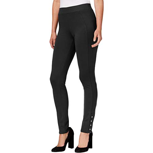 Style & Co. Womens Ponte Flat Front Casual Pants Black ()
