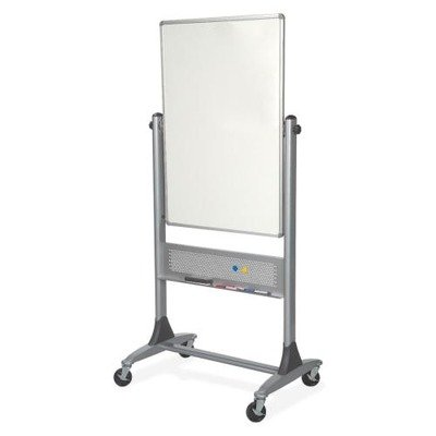 Best-Rite 669RU-DD Platinum Mobile Reversible Whiteboard Easel, 30 x 40 Inches Panel Size, Porcelain Steel Markerboard Surface