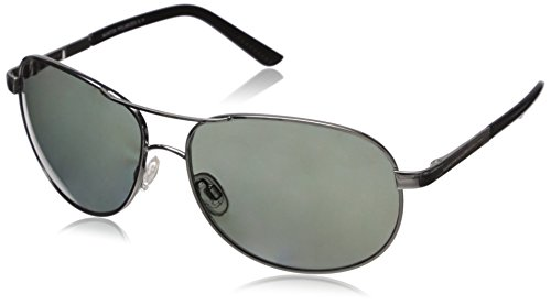 Suncloud Aviator Polarized Sunglasses, Silver Frame, Gray Polycarbonate Lenses