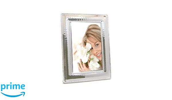 Cunill Silver Slim Beaded Frame For 5 By 7inch Photograph