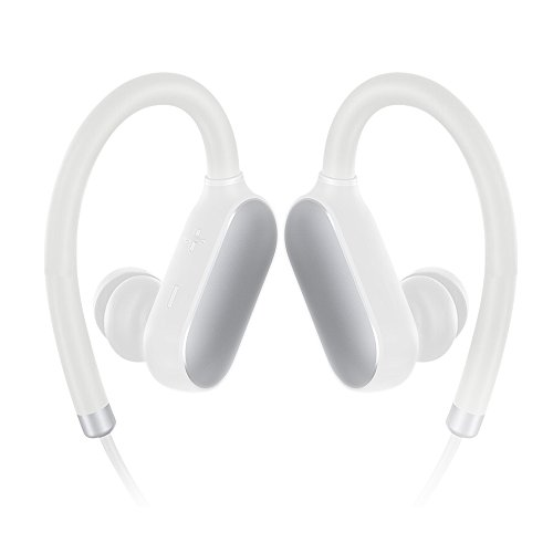 Xiaomi Bluetooth Headphones Wireless 4.1 Sports Earbuds Sweatproof 7 Hours Battery Earphone w/Mic for iPhones, Samsung Phones, Apple Watch and More?White?