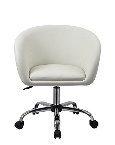 Drehstuhl ikea weiß  Drehstuhl mit Rollen Weiß Schreibtischstuhl Arbeitshocker aus ...