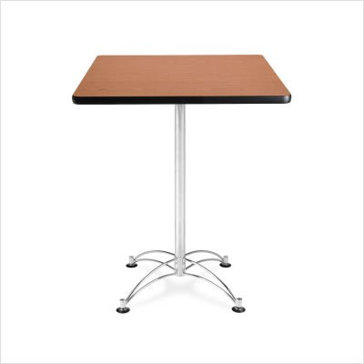OFM CCLT30SQ-CHY Square Cafe Table, Chrome Base, 30
