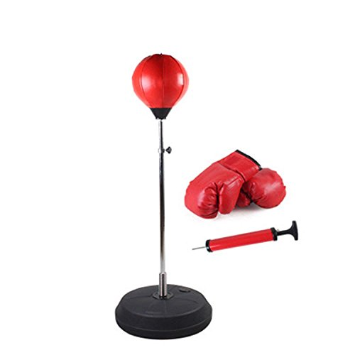 HOMEE Punching Ball Boxing Sandbag with Stand Height Adjustable Vertical for Sport Fitness Training Punching Bag Toy Gift with Gloves SET