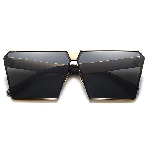 Carrée de Tendance VVZiel Noir Lunettes de Polarisées Or Gris Cadre pour Soleil Soleil Lentilles avec Lunettes Femmes g55wqz