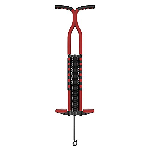 KORJO Easy Grip Pro Sport Pogo Stick with Foam Covered for Kids Adults for Ages 9 and up - Support 80 to 160 lbs Red by KORJO