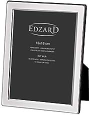 EDZARD Fotolijst Salerno voor een foto van 13 x 18 cm, verzilverd, bestand tegen aantasting.