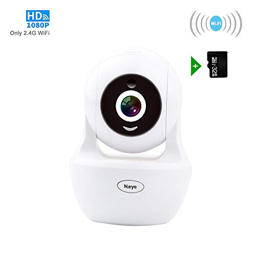 Wireless WiFi Camera, 1080P HD Wireless Night Vision Camera, Pet Monitoring Baby Camera, Built-in 32G Memory Card,Cloud Service, Remote Detect for ()