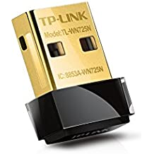 TP-Link N150 USB WiFi Adapter with SoftAP Mode - Nano Size, Compatible with Windows XP/7/8/8.1/10 - Mac OS 10.6~10.11 - Linux Kernal 2.6~3.16 (TL-WN725N)