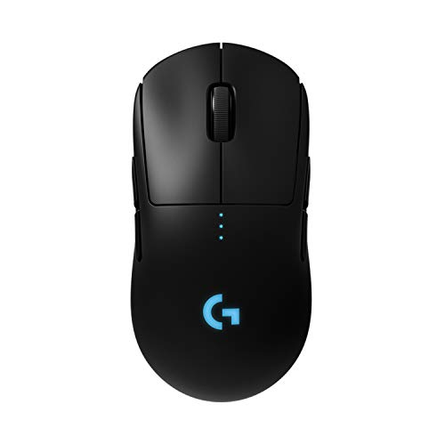 Logitech G PRO Wireless Gaming Mouse, HERO 16K Sensor, 16000 DPI, RGB, Ultra Lightweight, 4 - 8 Programmable Buttons, Long Battery Life, On-Board Memory, Built for esport, PC/Mac - Black (German Pack)